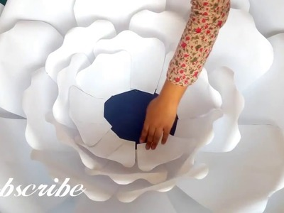 Largest Paper Giant Flower | How To Make Large Giant Rose Flower (Paper Flower Assembly)