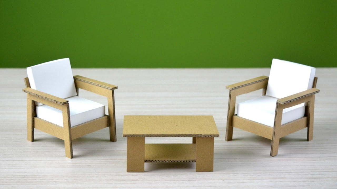 Make table and chair by only using cardboard and paper | amazing cardboard craft - DIY