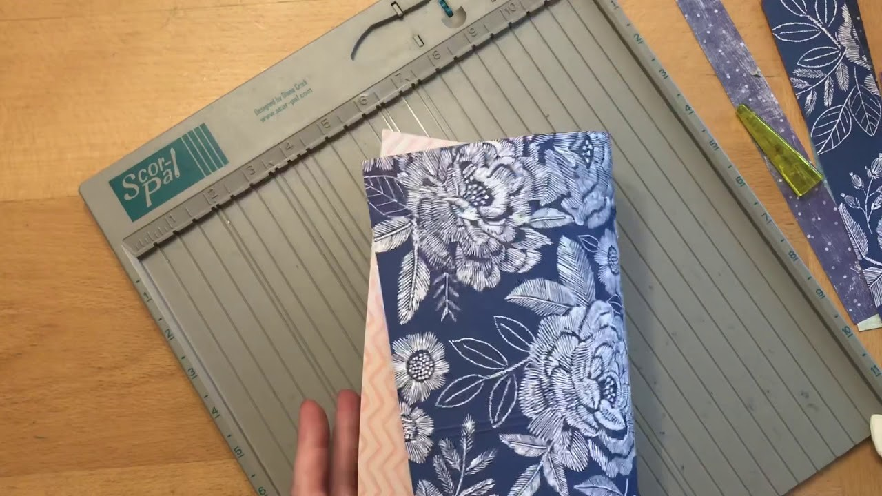 """Making a pocket folder from a 12x12"""" sheet of paper"""