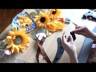 MP&B Mini Crepe Paper Sunflower Tutorial