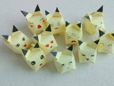 Oragimi Pokemon : How to make paper Pikachu ? ( very simple )