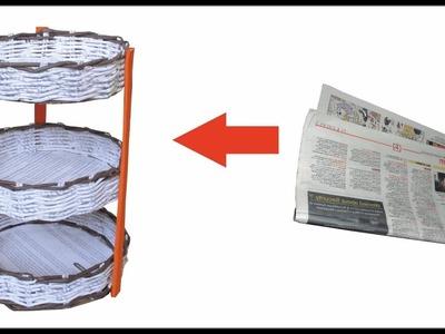Paper Basket With Newspaper | Multi Storage Paper Basket