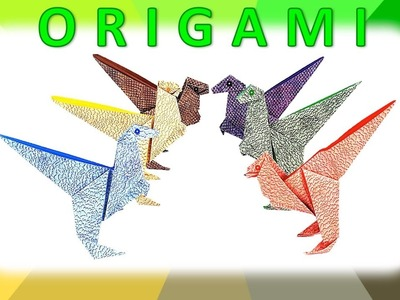 Paper Craft for Kids: Origami Dinosaur (1)
