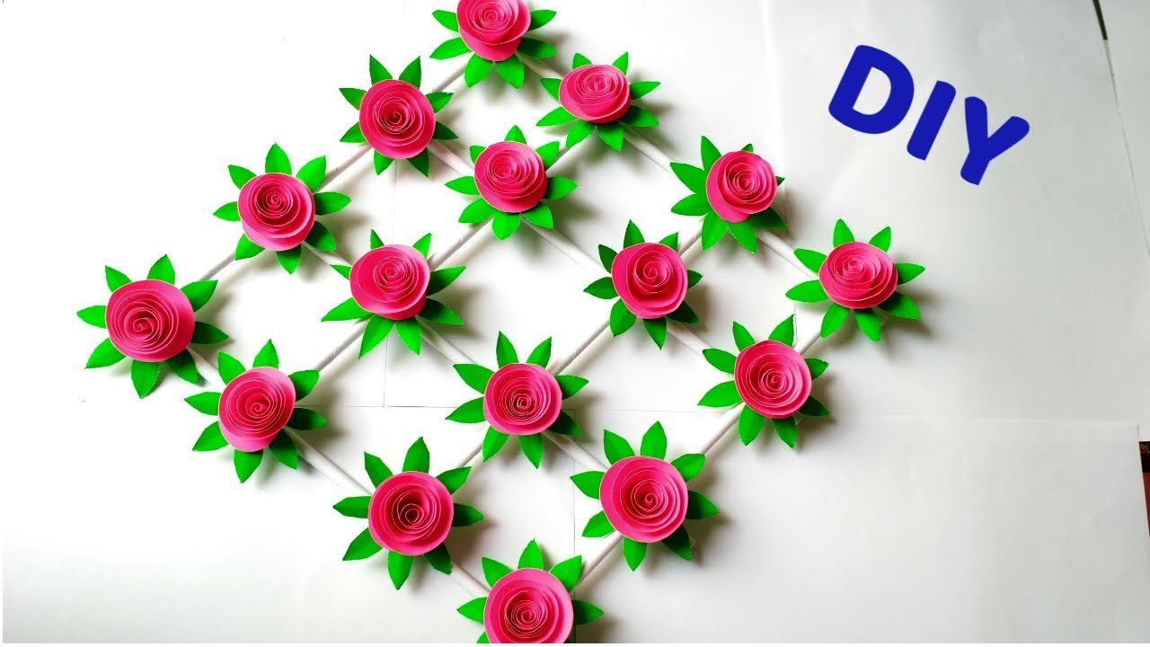 Paper Flower Wall Hanging Craft Ideas Room Decoration Ideas Paper