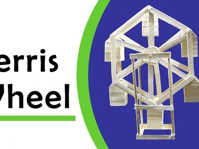 Popsicle stick crafts - How to make Ferris Wheel