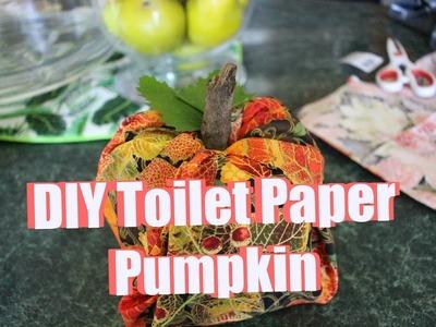 PUMPKIN PALOOZA 2018 | $5 Fall Decor DIY! - Toilet Paper Pumpkin