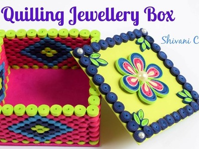 Quilling Jewellery Box. How to make Quilled Square Shaped Box