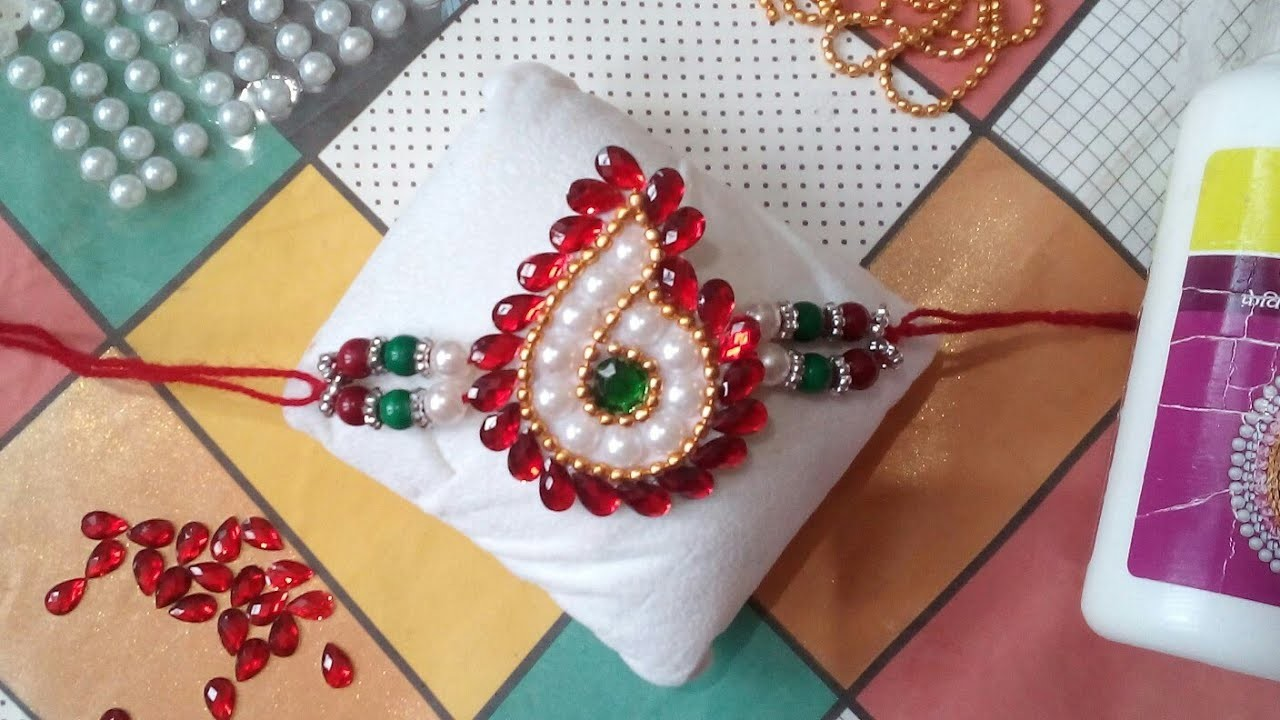 Rakhi Making Ideas at Home #6   How to Make Rakhi For School Competition   Catchy Crafts