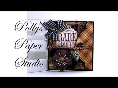 Revisit & Remake Day 6 Vintage Rare Oddities Tag Book Polly's Paper Studio Halloween Scrapbook DIY