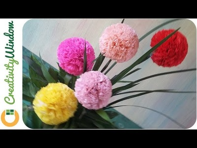 Round Crepe Paper Flowers