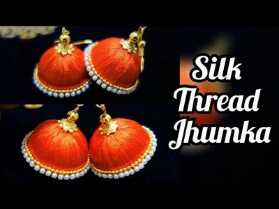 Silk Thread Jhumka Made at home | #Rakshabandhan Outfit Ideas #Rakhi Special #Diy #Jhumka #silkthrea