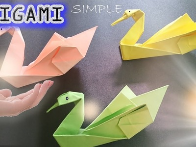 Swan paper folding fast and simple - Easy to make Origami – Paper Magic Top