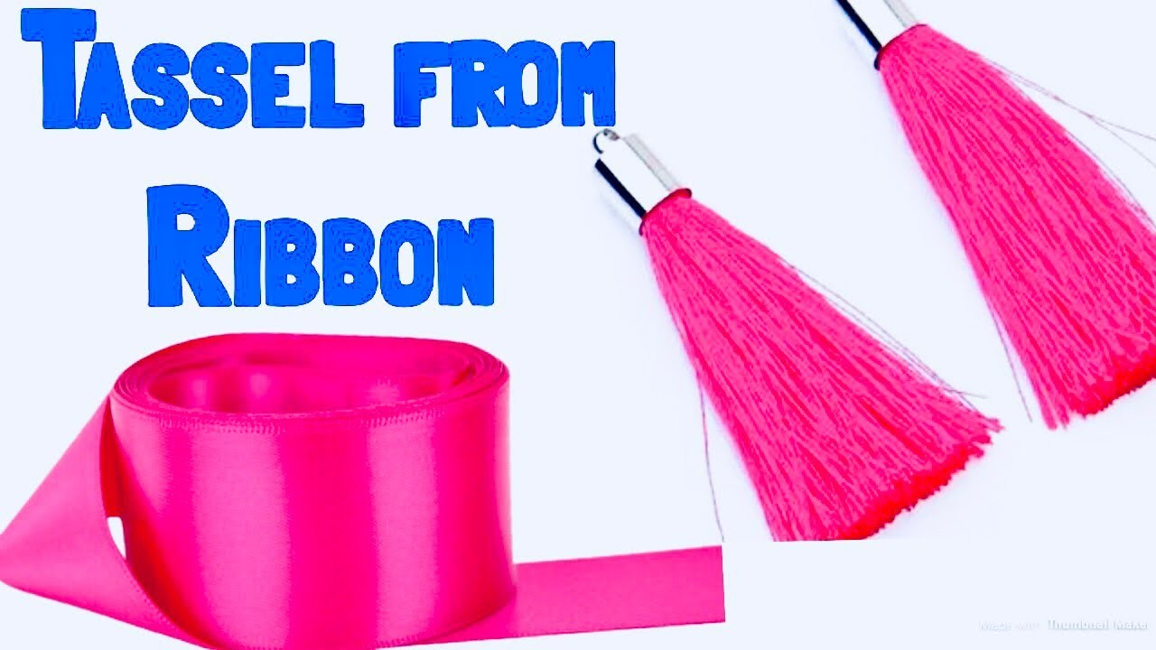 Tassel making tutorial - how to make tessel from ribbon - readymade tessels : cool and creative