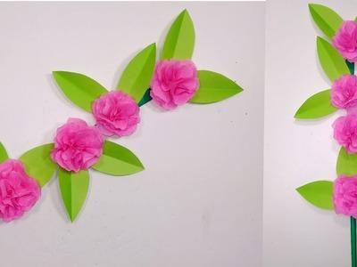 Tissue Paper Stick Flower:Stick Beautiful Tissue Paper Flower|Tissue Flower|Jarine's Crafty Creation