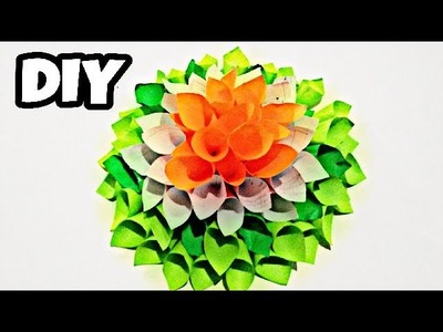Tri Color flower | Independence Day | How | best out of waste | patriotic | Diy ideas????| recycle ♻