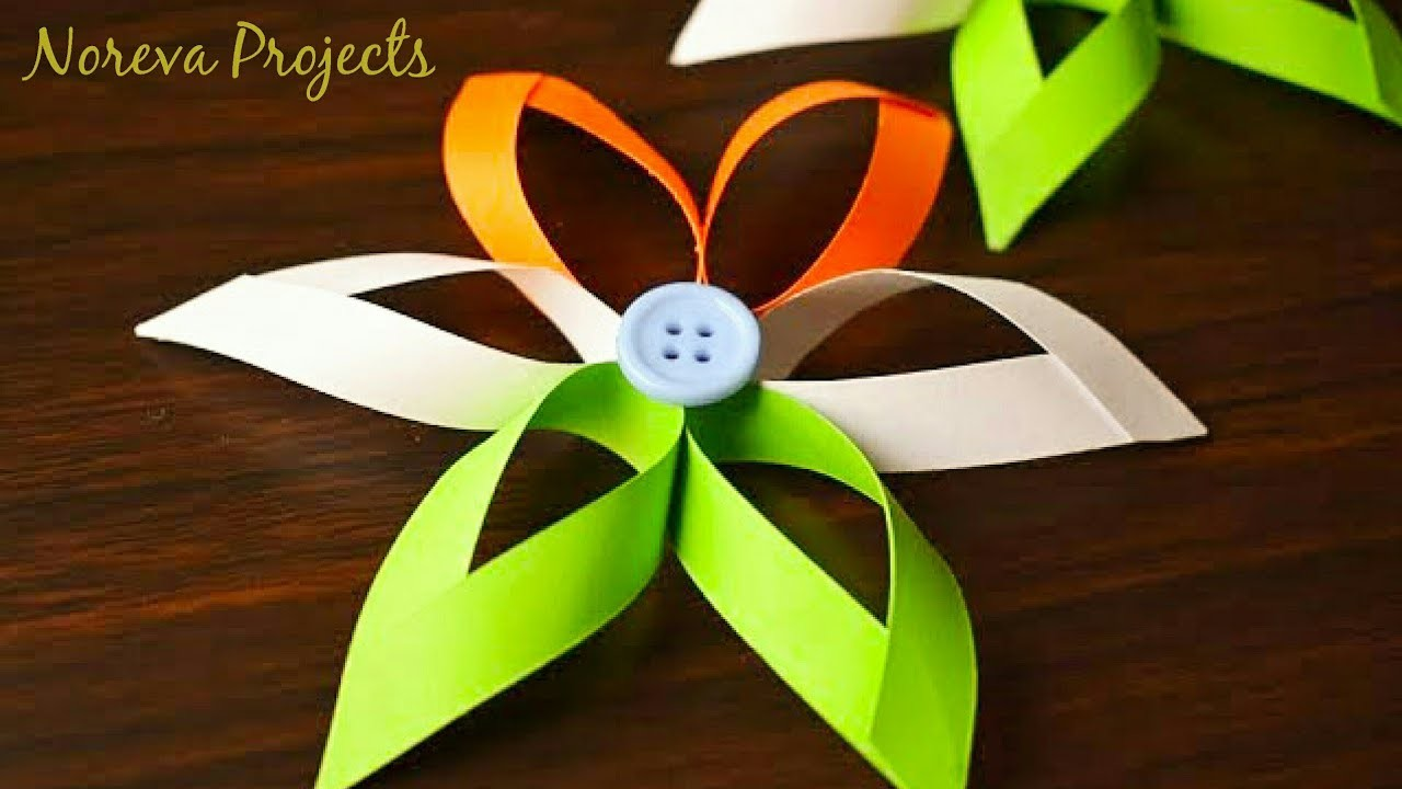 Tricolour Paper Flowers Diy Paper Crafts Independence Day