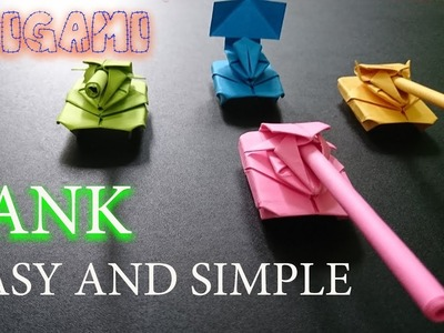 VERY Easy to make PAPER TANK – Paper Magic Top