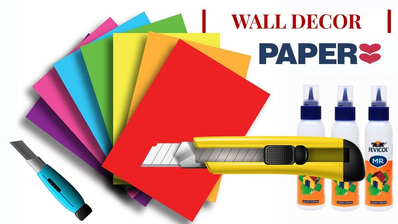 Wall Decor idea with Paper | DIY Wall Decor Ideas with Paper | Paper Craft Wall Decor
