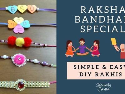 5 Simple & Easy DIY Rakhi making ideas at home | RakshaBandhan Special | Kids Special Rakhi ideas