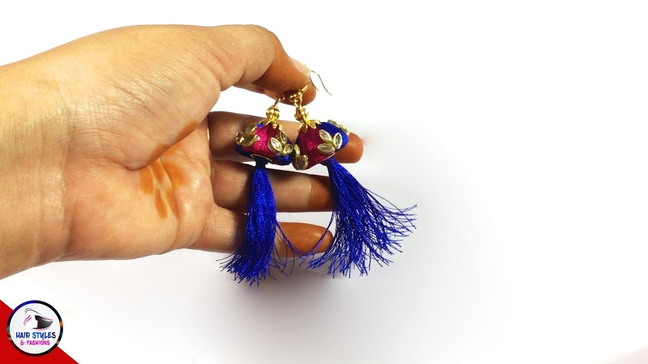 BEAUTIFUL JEWELRY CRAFTS YOU CAN DIY   Thread Jewellery Making Tutorial   Hairstyles and fashions