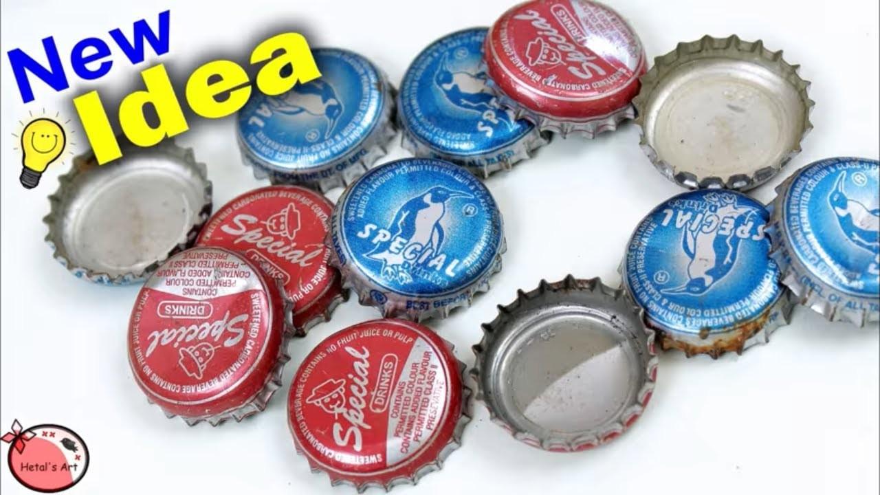 Bottle Caps Craft Idea Diy Best Out Of Waste Idea Home Decor