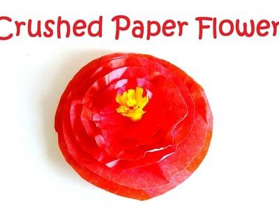 Crushed paper flower. SImple paper flower. DIY paper flower