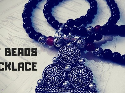 DIY Beads Necklace Jewellery Home Made | Beads Jewelry Making