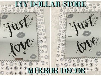 DIY DOLLAR STORE MIRROR DECOR | QUICK & EASY DIY IDEAS 2018
