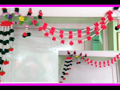 Diy.door hanging toran from wastage bangal and small beads, new design .