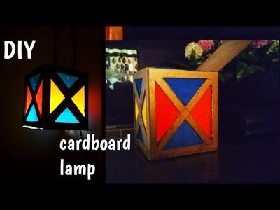 Diy:Easy & beautiful cardboard pendant lamp.lantern.cardboard candle holder for home decor