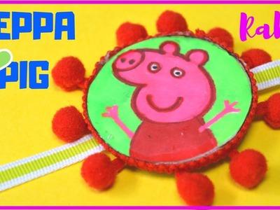 DIY: Easy PEPPA PIG RAKHI I Kids School competition rakhi idea in 5 Minutes