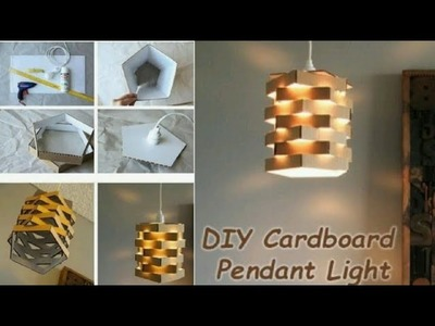 DIY Easy To Make Lamp With Recycled Cardboard | Night Lamp Out Of Cardboard | Cardboard Craft 2018