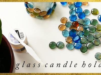 DIY Glass pebble candle holder. Üveglencsés gyertyatartó