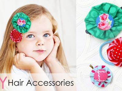DIY Hair Accessories for Girls   HAIR CLIPS