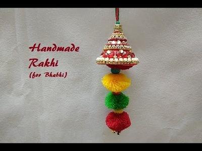DIY |Handmade Lumba Rakhi at Home | Rakhi for Bhabhi | Raksha Bandhan | Easy Rakhi Making
