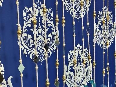 Diy:how to make letest pearl toran design!toran for doors# bandhanwal