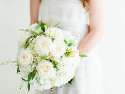 DIY Hydrangea Bridal Bouquet ~ by Flower Moxie