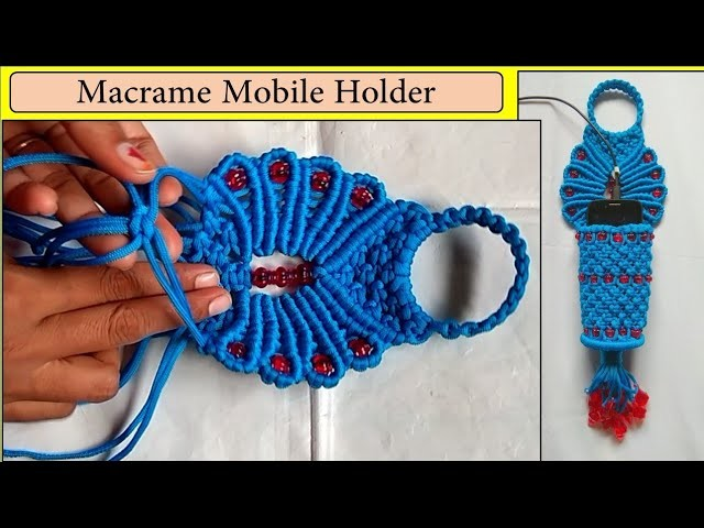 DIY Macrame mobile Holder | wall hanging mobile.cell phone holder