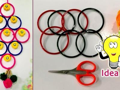 DIY || Old bangles reuse idea | Best wall hanger idea | DIY arts and crafts | Amazing craft idea