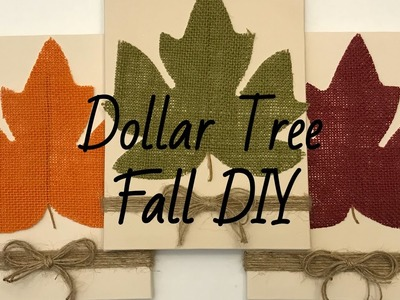 Dollar Tree Fall Farmhouse Decor DIY Photo Holder September 2018