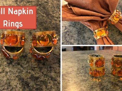 Dollar Tree Fall Napkin Ring DIY 2018