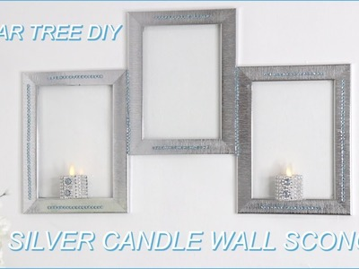 DOLLAR TREE ????SILVER CANDLE WALL SCONCE DIY????