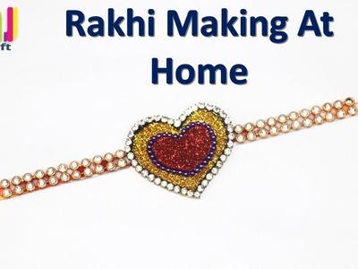 Easy and best handmade rakhi || rakhi making at home ||DIY Rakhi