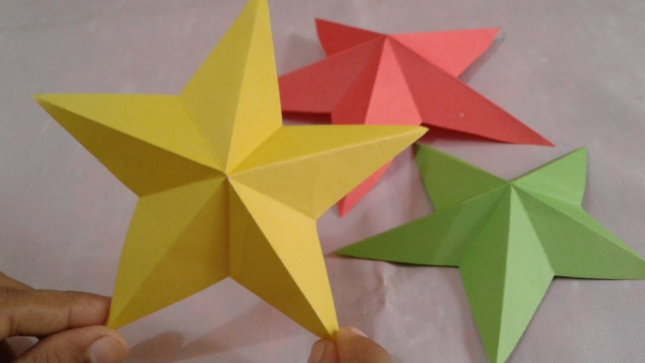 Easy Quick Paper Star How To Make Simple Easy Paper Star Diy