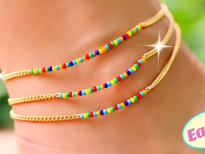 EASY!! Rainbow Anklet DIY Projects You Need To Try! Easy DIY Jewelry