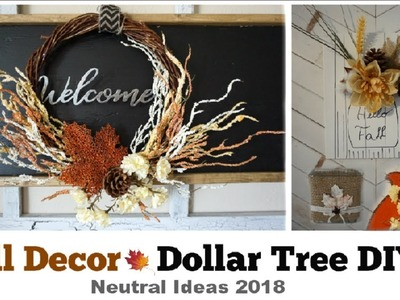 Fall Rustic Dollar Tree DIY Decor | Neutral Decor Ideas 2018 | Momma From Scratch