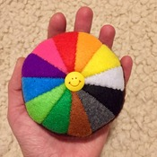 Felt Color Wheel Rainbow Pincushion 12 colours