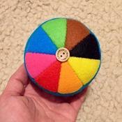 Felt Color Wheel Rainbow Pincushion 8 colours GIFT
