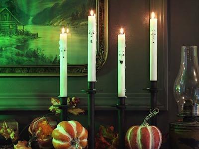 Halloween Decorating - Spooky Candles!  Easy & Fun DIY Halloween Crafts