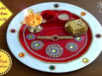 How to Make & Decorate Rakhi Pooja Thali | DIY | RakshaBandhan Special